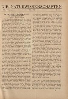 Die Naturwissenschaften. Wochenschrift..., 11. Jg. 1923, 2. März, Heft 9.