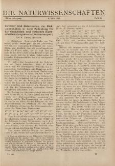 Die Naturwissenschaften. Wochenschrift..., 11. Jg. 1923, 9. März, Heft 10.
