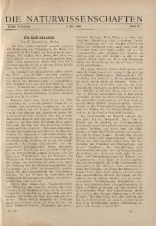 Die Naturwissenschaften. Wochenschrift..., 11. Jg. 1923, 04. Mai, Heft 18.