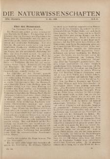 Die Naturwissenschaften. Wochenschrift..., 11. Jg. 1923, 11. Mai, Heft 19.