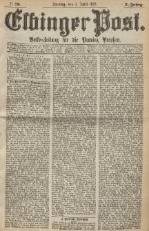 Elbinger Post, Nr. 78, Sonntag 4 April 1875, 2 Jh