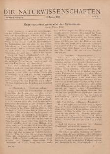 Die Naturwissenschaften. Wochenschrift..., 12. Jg. 1924, 18. Januar, Heft 3.