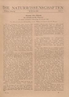 Die Naturwissenschaften. Wochenschrift..., 12. Jg. 1924, 15. Februar, Heft 7.