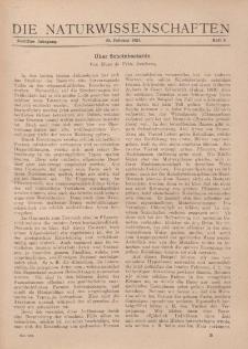 Die Naturwissenschaften. Wochenschrift..., 12. Jg. 1924, 29. Februar, Heft 9.