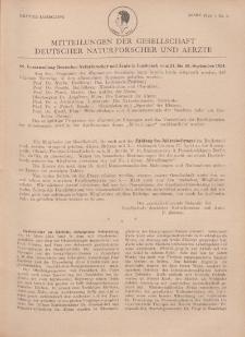 Mitteilungen der Gesellschaft Deutscher Naturforscher und Aerzte, 1. Jg. 1924, März, Nr 3.