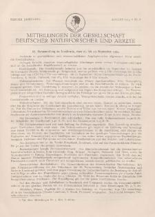 Mitteilungen der Gesellschaft Deutscher Naturforscher und Aerzte, 1. Jg. 1924, August, Nr 8.