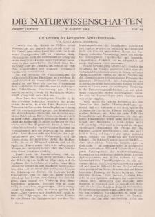 Die Naturwissenschaften. Wochenschrift..., 12. Jg. 1924, 31. Oktober, Heft 44.