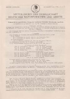 Mitteilungen der Gesellschaft Deutscher Naturforscher und Aerzte, 1. Jg. 1924, November, Nr 9-12.