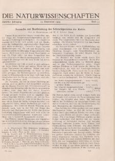 Die Naturwissenschaften. Wochenschrift..., 12. Jg. 1924, 19. Dezember, Heft 51.