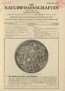 Die Naturwissenschaften. Wochenschrift..., 16. Jg. 1928, 20. Januar, Heft 3.
