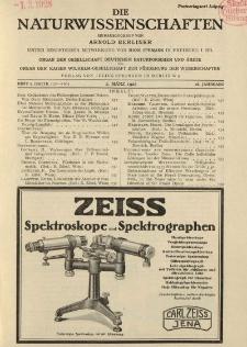 Die Naturwissenschaften. Wochenschrift..., 16. Jg. 1928, 2. März, Heft 9.