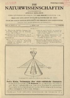 Die Naturwissenschaften. Wochenschrift..., 16. Jg. 1928, 9. März, Heft 10.