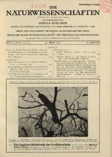 Die Naturwissenschaften. Wochenschrift..., 16. Jg. 1928, 30. März, Heft 13.
