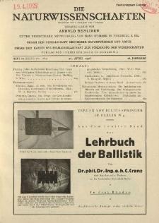 Die Naturwissenschaften. Wochenschrift..., 16. Jg. 1928, 20. April, Heft 16.