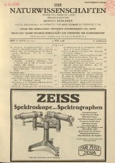 Die Naturwissenschaften. Wochenschrift..., 16. Jg. 1928, 4. Mai, Heft 18.
