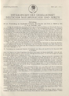 Mitteilungen der Gesellschaft Deutscher Naturforscher und Aerzte, 5. Jg. 1928, Mai, Nr 2.