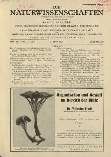 Die Naturwissenschaften. Wochenschrift..., 16. Jg. 1928, 8. Juni, Heft 23.