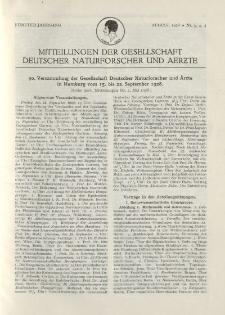 Mitteilungen der Gesellschaft Deutscher Naturforscher und Aerzte, 5. Jg. 1928, August, Nr 3-5.