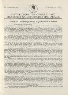 Mitteilungen der Gesellschaft Deutscher Naturforscher und Aerzte, 5. Jg. 1928, November, Nr 6/7.