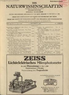 Die Naturwissenschaften. Wochenschrift..., 16. Jg. 1928, 7. Dezember, Heft 49.