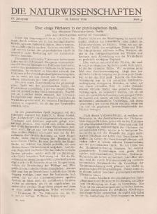 Die Naturwissenschaften. Wochenschrift..., 17. Jg. 1929, 18. Januar, Heft 3.