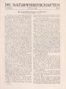 Die Naturwissenschaften. Wochenschrift..., 17. Jg. 1929, 8. Februar, Heft 6.