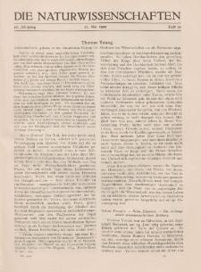 Die Naturwissenschaften. Wochenschrift..., 17. Jg. 1929, 17. Mai, Heft 20.