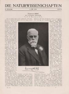 Die Naturwissenschaften. Wochenschrift..., 17. Jg. 1929, 5. Juli, Heft 27.