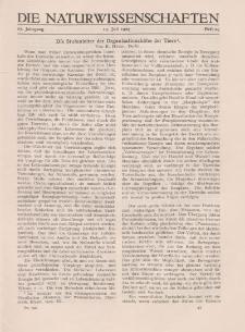 Die Naturwissenschaften. Wochenschrift..., 17. Jg. 1929, 19. Juli, Heft 29.