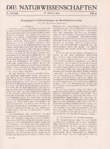 Die Naturwissenschaften. Wochenschrift..., 17. Jg. 1929, 18. Oktober, Heft 42.