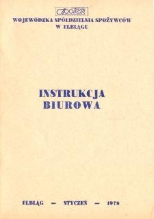 """Instrukcja Biurowa Wojewódzka Spółdzielnia Spożywców """"Społem"""" (1978) - broszura"""