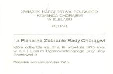 Plenarne Zebranie Rady Chorągwi - zaproszenie