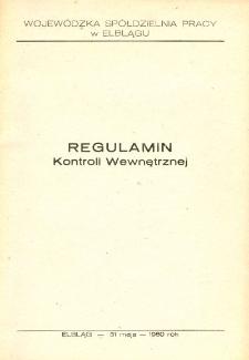Regulamin kontroli wewnętrznej (Wojewódzka Spółdzielnia Pracy w Elblągu) - broszura