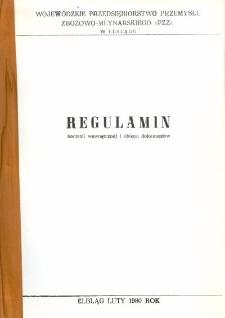 Regulamin kontroli wewnętrznej i obiegu dokumentów - biuletyn