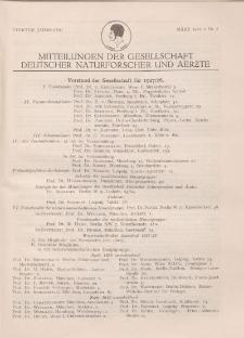 Mitteilungen der Gesellschaft Deutscher Naturforscher und Aerzte, 4. Jg. 1927, März, Nr 1.