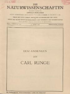 Die Naturwissenschaften. Wochenschrift..., 15. Jg. 1927, 11. März, Heft 10.