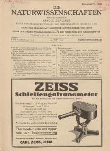 Die Naturwissenschaften. Wochenschrift..., 15. Jg. 1927, 17. Juni, Heft 24.