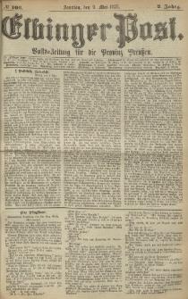 Elbinger Post, Nr. 106, Sonntag 9 Mail 1875, 2 Jh
