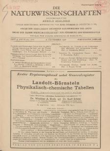 Die Naturwissenschaften. Wochenschrift..., 15. Jg. 1927, 2. September, Heft 35.