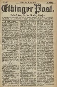 Elbinger Post, Nr. 107, Dienstag 11 Mail 1875, 2 Jh