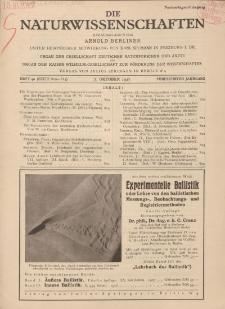 Die Naturwissenschaften. Wochenschrift..., 15. Jg. 1927, 7. Oktober, Heft 40.