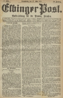 Elbinger Post, Nr. 111, Sonnabend 15 Mail 1875, 2 Jh