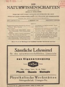 Die Naturwissenschaften. Wochenschrift..., 13. Jg. 1925, 6. Februar, Heft 6.
