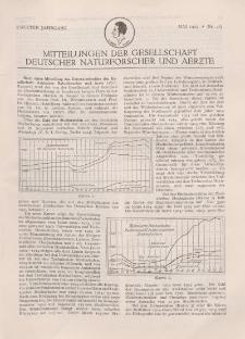 Mitteilungen der Gesellschaft Deutscher Naturforscher und Aerzte, 2. Jg. 1925, Mai, Nr 4/5.
