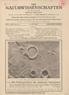 Die Naturwissenschaften. Wochenschrift..., 13. Jg. 1925, 31. Juli, Heft 31.