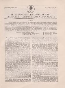 Mitteilungen der Gesellschaft Deutscher Naturforscher und Aerzte, 2. Jg. 1925, August, Nr 8.