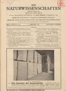 Die Naturwissenschaften. Wochenschrift..., 13. Jg. 1925, 30. Oktober, Heft 44.