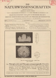 Die Naturwissenschaften. Wochenschrift..., 13. Jg. 1925, 6. November, Heft 45.
