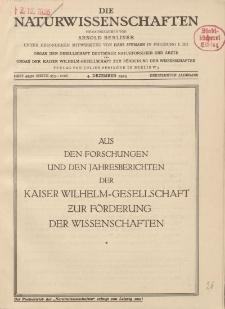 Die Naturwissenschaften. Wochenschrift..., 13. Jg. 1925, 4. Dezember, Heft 49/50.