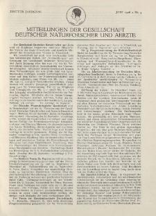 Mitteilungen der Gesellschaft Deutscher Naturforscher und Aerzte, 3. Jg. 1926, Juni, Nr 4.